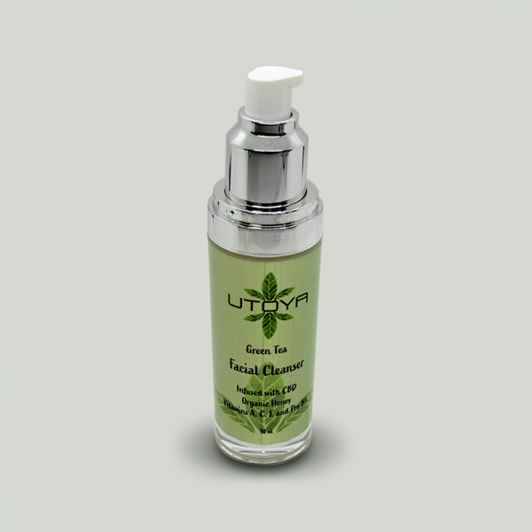 Green Tea and CBD Facial Cleanser