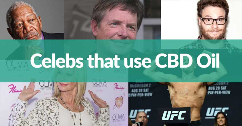 celebrities who use cbd