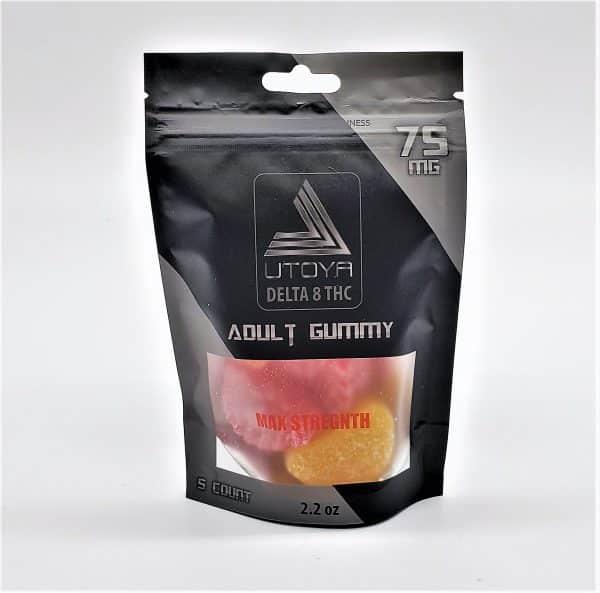 THC Delta 8 Gummy Fruit Slices 75mg Maximum Strength