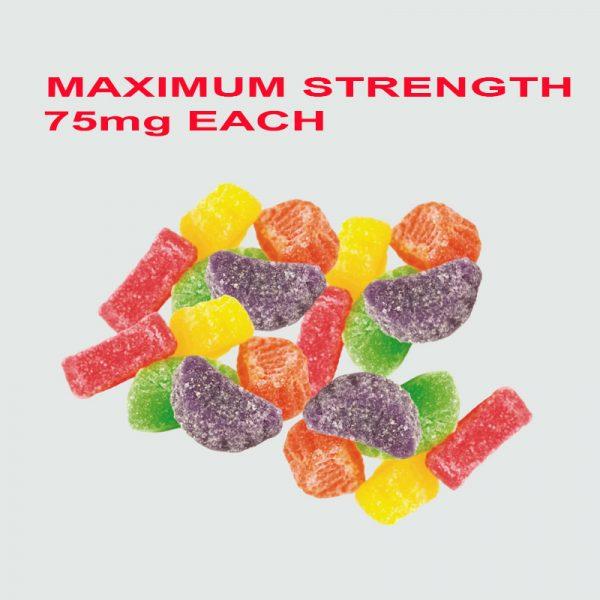Bulk 75mg MAX Strength Delta 8 Gummies - Bulk D8 Edibles - Bulk Delta 8 Edibles