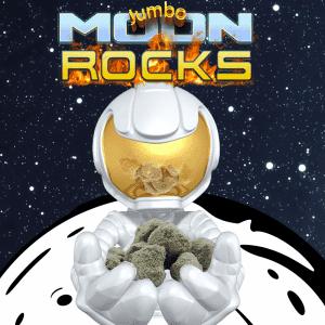 Spectrum Hemp Flower Moon Rocks With Delta 8, CBD, CBN, and topped with CBG kief