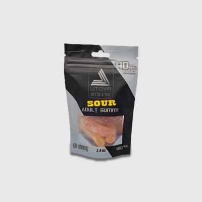 Sour Gummy Worms 40mg Bag