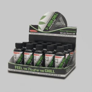 Delta 8 THC Drinks - 3-Hour Chill Shot Display Case w 15 Shots