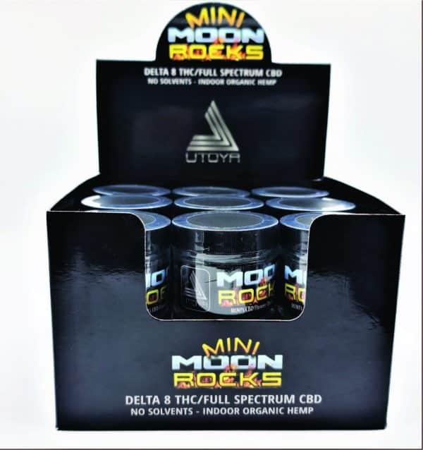 Delta 8 Moon Rock Mini Display Case