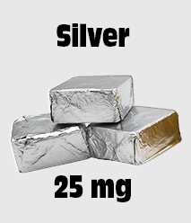 Delta 8 Edibles: Delta 8 Chocolate 25 mg Silver Single