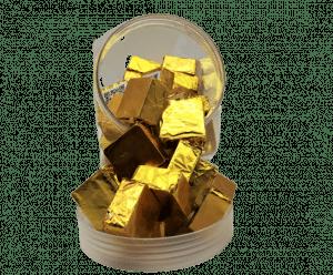 Delta 8 Chocolate Squares 40 Piece Display Jar - Gold 50 mg