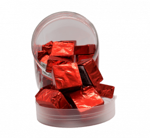 Delta 8 Chocolate Squares 40 piece Display Jar - Red 75 mg