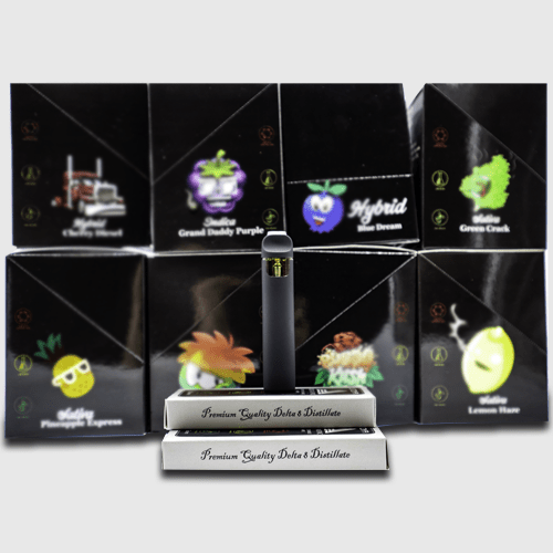 Disposable Vape Set 8 Strains With Disposable In View