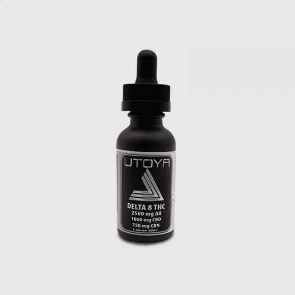 Utoya D8 CBD CBN Tincture Oil - D8 2500 CBD 1000 mg CBN 750 mg