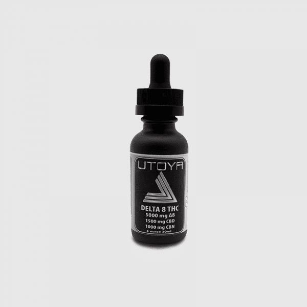 Utoya D8 CBD CBN Tincture Oil - D8 5000 CBD 1500 mg CBN 1000 mg